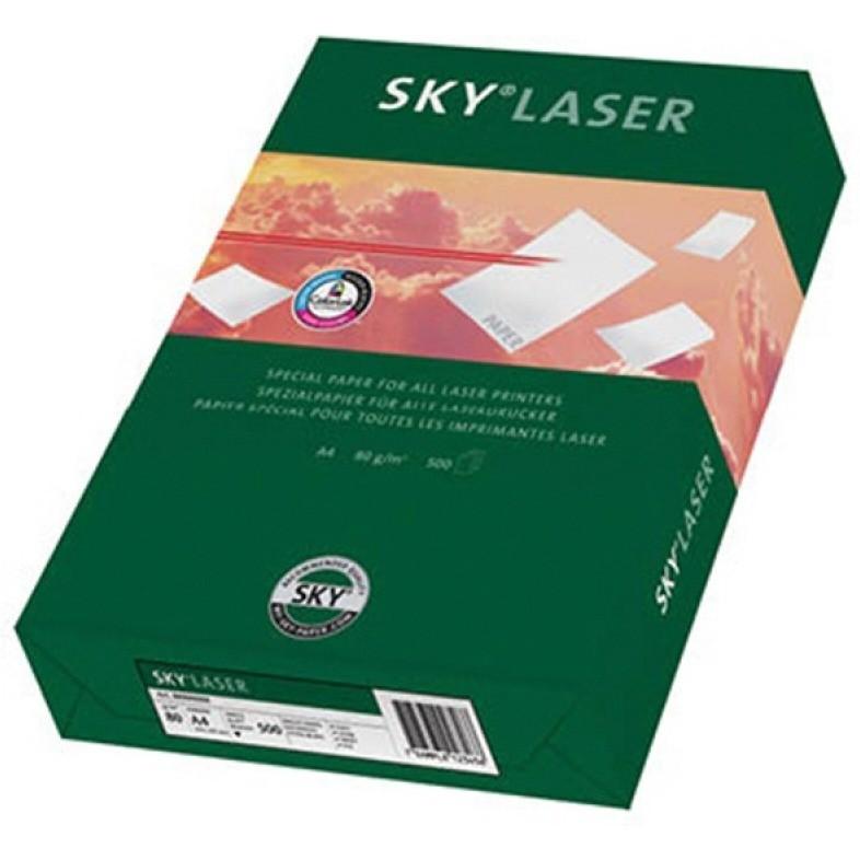 Papier kserograficzny SKY Laser, A4, klasa B, 80gsm, 500ark., SKY-88031877