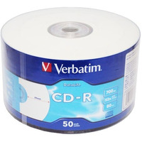 CD-R 52x 700MB 50P SP Printable Extra Protection 43794