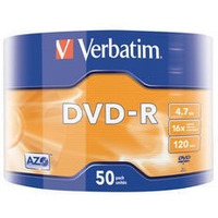 DVD-R 16x 4.7GB 50P SP Matt Silver Wrap 43788